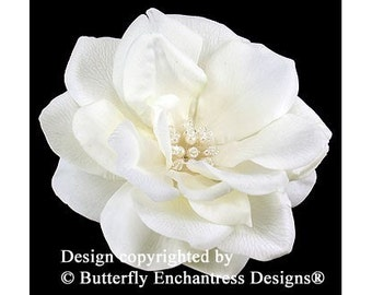Pearl Crystal Ivory Natalia Rose Bridal Hair Flower Clip