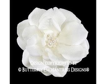 Pearl Crystal Cluster Ivory Natalia Rose Bridal Flower Hair Clip