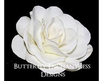 Wedding Hair Flower Clips, Bridal Hair Accessories, Bridal Headpiece, Fascinators - Mini Cream-White Gwyneth Gardenia Hair Flower