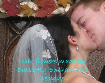 Bridal Hair Pins, Wedding Hair Pins, Pearl Hair Pins, Floral Hair Pins, Wedding Headpiece - 3 Ivory Hydrangea Flower Pearl Vine Hairpins