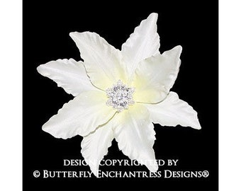 Vintage-inspired Starfire Ivory Lily Hair Pin
