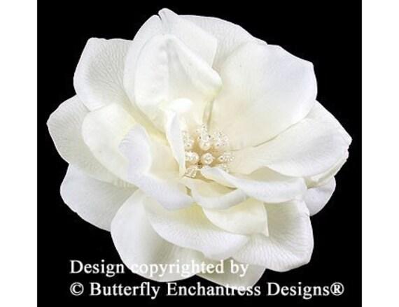 Pearl Crystal Ivory Natalia Rose Bridal Hair Flower Clip