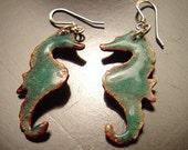 Seahorse earrings by ignisdesigns.etsy.com