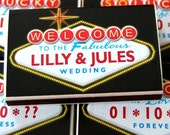 Wedding personalized matchbox party favors -- Push your luck with Vegas Lites