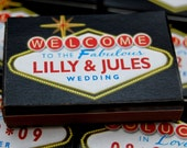 Personalized wedding matchbox favors -- Push your luck with Vegas Lites