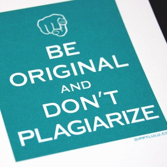 Keep Calm and Carry On parody postcards x 4 --  Be Original and Don't Plagiarize