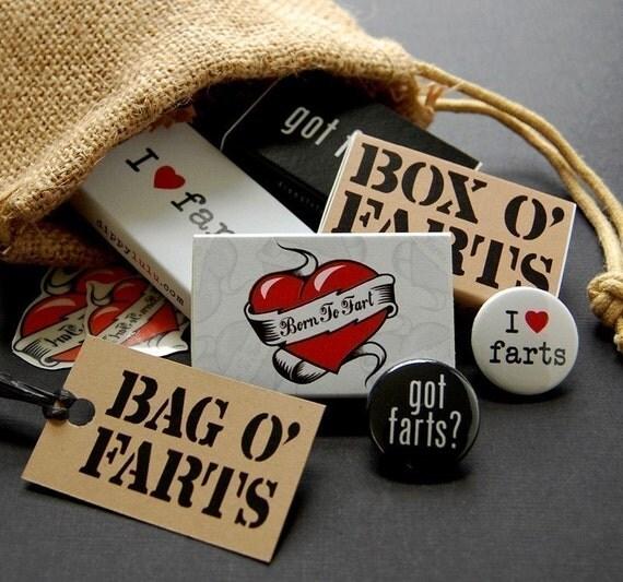 Funny joke gag gift for stinkers -- Bag O' Farts