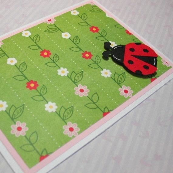 Ladybug Note Cards Set of 4