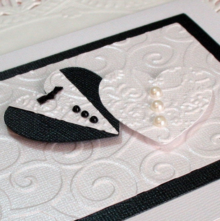 Wedding Card Anniversary Card Bridal Shower Card Embossed