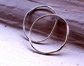 Two of a Kind - Pair of Simply Skinny Rustic Organic Sterling Silver Stacking Rings