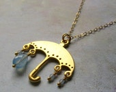 Rainy Day Umbrella with Gold Filled Chain Necklace