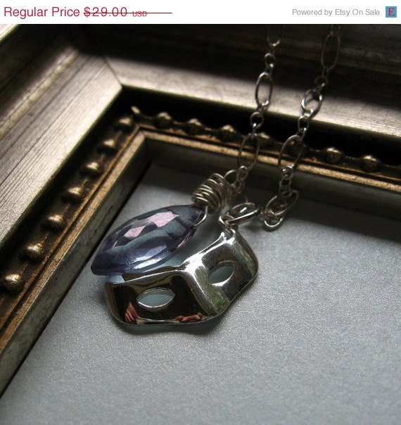 On Sale 15% Off The Mysterious Mask Necklace in Sterling Silver