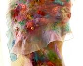 Learn to Nuno Felt a Scarf Kit, Silk Chiffon, Wool