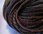Garden Shadows, handspun BFL yarn, 204 yds