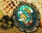 I Wish I Was A Mermaid - Resin Cameo Necklace