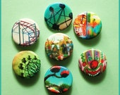 Carnival Pack No.1 - 1.25 inch Pinback Buttons (8)