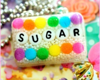 Pour Some Sugar On Me - Resin Candy Sprinkles Necklace