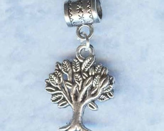 Silver Tree of Life Lrg Hole Bead Fits All European, Add a Bead Charm Bracelet Jewelry Pnd-S23