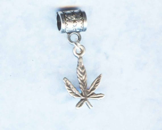 Sterling Silver Hemp Leaf Lrg Hole Bead Fits All European Styles of  Add a Bead Charm Bracelet Jewelry AAB-HEMP