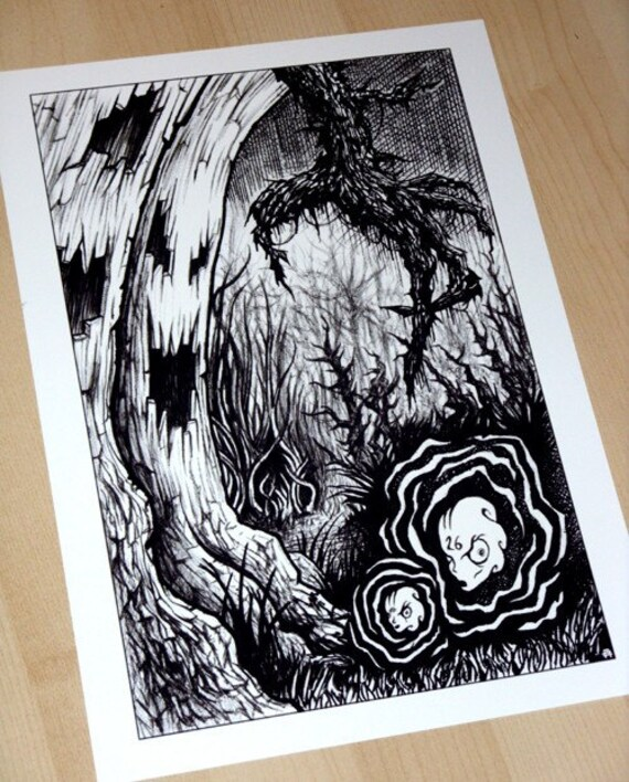 Poster Weights Etsy: Into The Wilderness Art Print On 250gsm Heavy Weight Paper