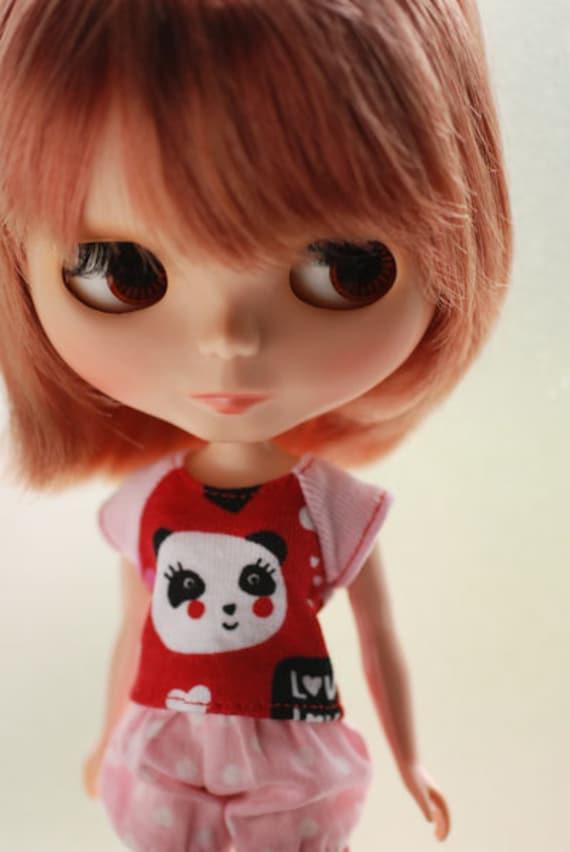 Blythe short sleeve tee - girl panda