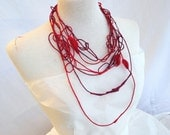 Valentina - RED and violet, LUP 2 necklaces