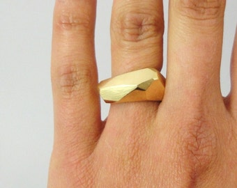 KRYSTALL  ring in 18K pure GOLD