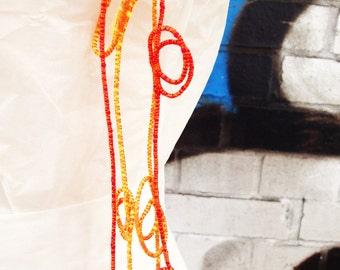 LUP duo necklace set in SUNNY  orange tones