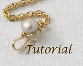 Wirework Clasp Tutorial Jeweled Hook Clasp Digital Download
