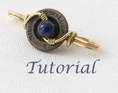 Wirework Clasp Tutorial Swirly Button Clasp Digital Download