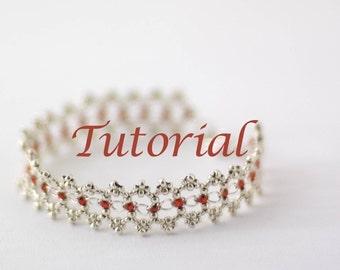 Beaded Bracelet Tutorial Ribbon Lace Digital Download