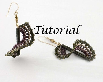 Beaded Earrings Tutorial Wind Dancer Digital Download