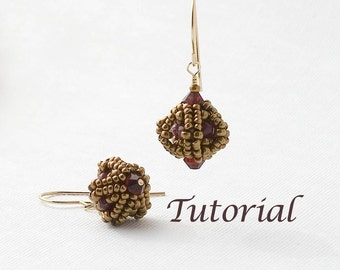 Beaded Bead Tutorial Itsy Bitsy Beaded Bead Earrings Digital Download