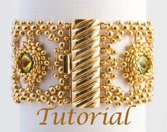Seed Bead and Rivoli Bracelet Pattern Classical Dreams Digital Download