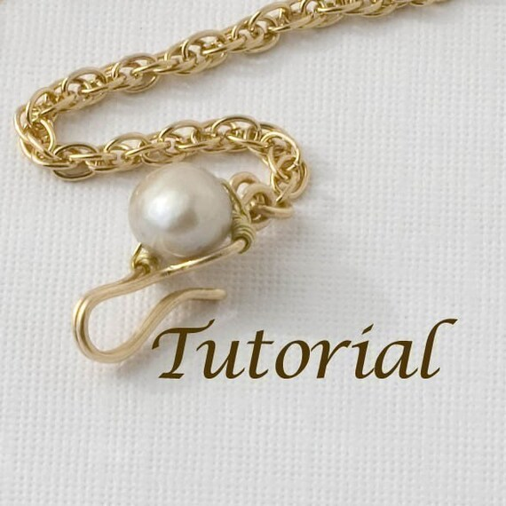 Wirework Clasp Tutorial Jeweled Hook Clasp Digital Download