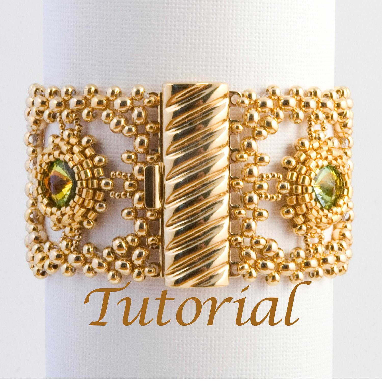Seed Bead and Rivoli Bracelet Pattern Classical Dreams Digital