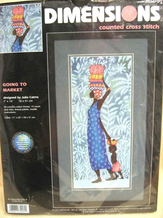 Dimensions Going To Market Counted Cross stitch Kit African Woman 35005