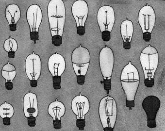 Edison Lightbulbs 5 x 7 digital print
