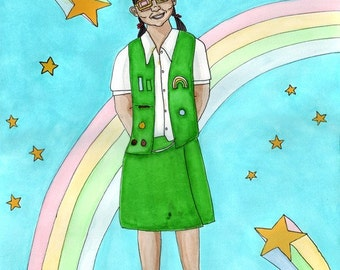 Girl Scout DIGITAL PRINT