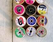 Vintage Thread-Free Wood Spools