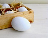 Ceramic White Eggs - RESERVED