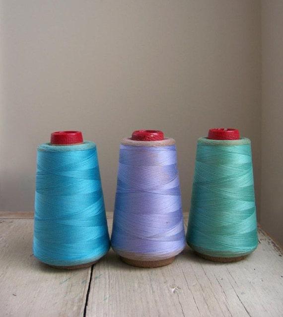 Vintage Thread Spools - Set of 3 - Lovely Hues