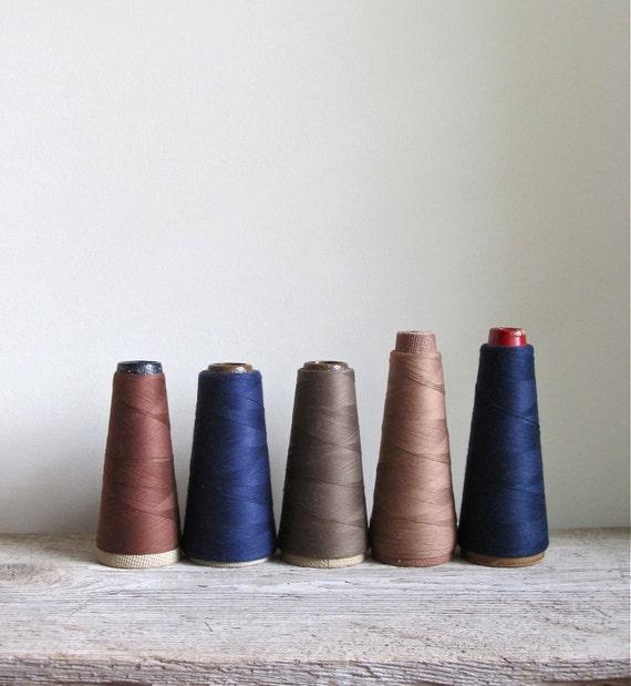 Vintage Thread - Set of 5 Cone Spools