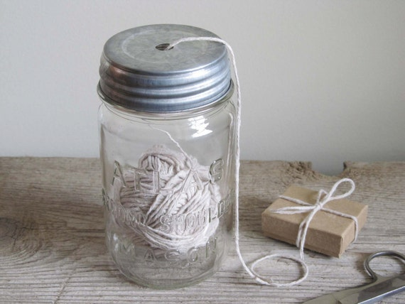 Vintage Mason Jar String Dispenser