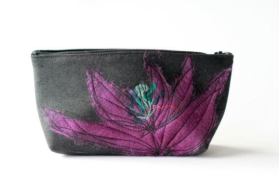 Large Purple Cosmetic Bag - Sale
