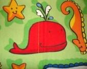 Whale of a Burp Cloth Set (3)
