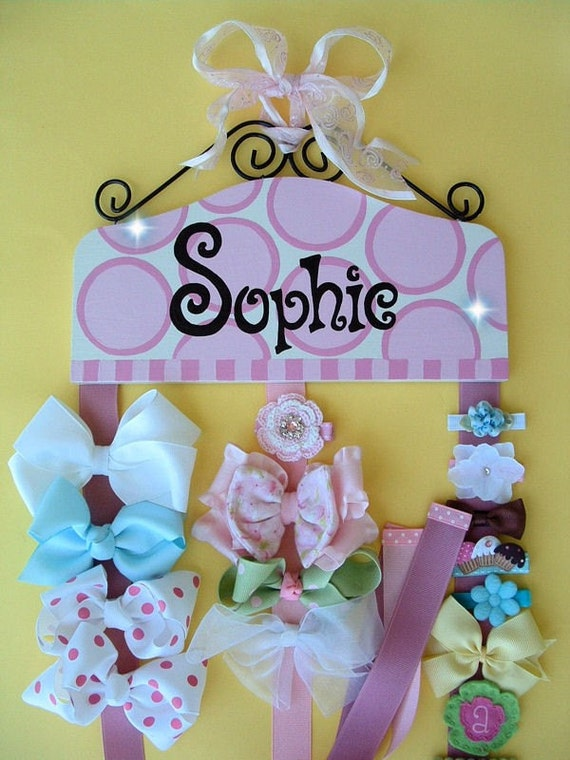 Personalized HAIR BOW HOLDER - DESIGN YOUR OWN - SELECT YOUR COLORS - BEST BABY SHOWER GIFT