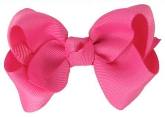 hair bows for girls everyday hair bow hot pink perfect for