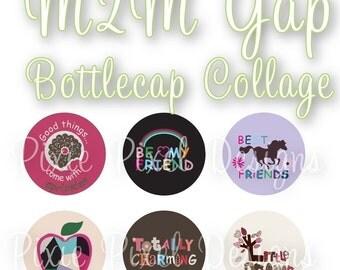 M2M Gap Collage 1 inch Bottle Cap Disc-Its Scrapbooking Boutique Digital Collage Art Sheet