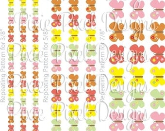 INSTANT DOWNLOAD - M2M Social Butterfly Print Your Own Ribbon Graphics